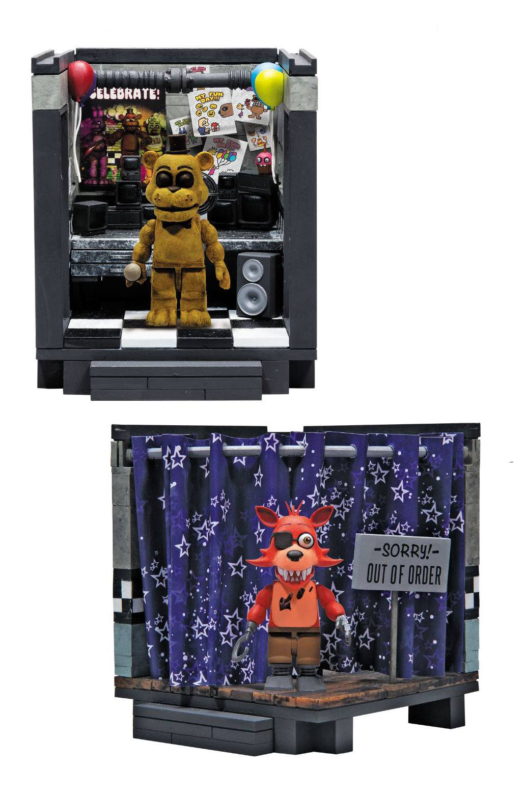 Five Nights at Freddy's Small Construction Set Classic Series Assortment (6)