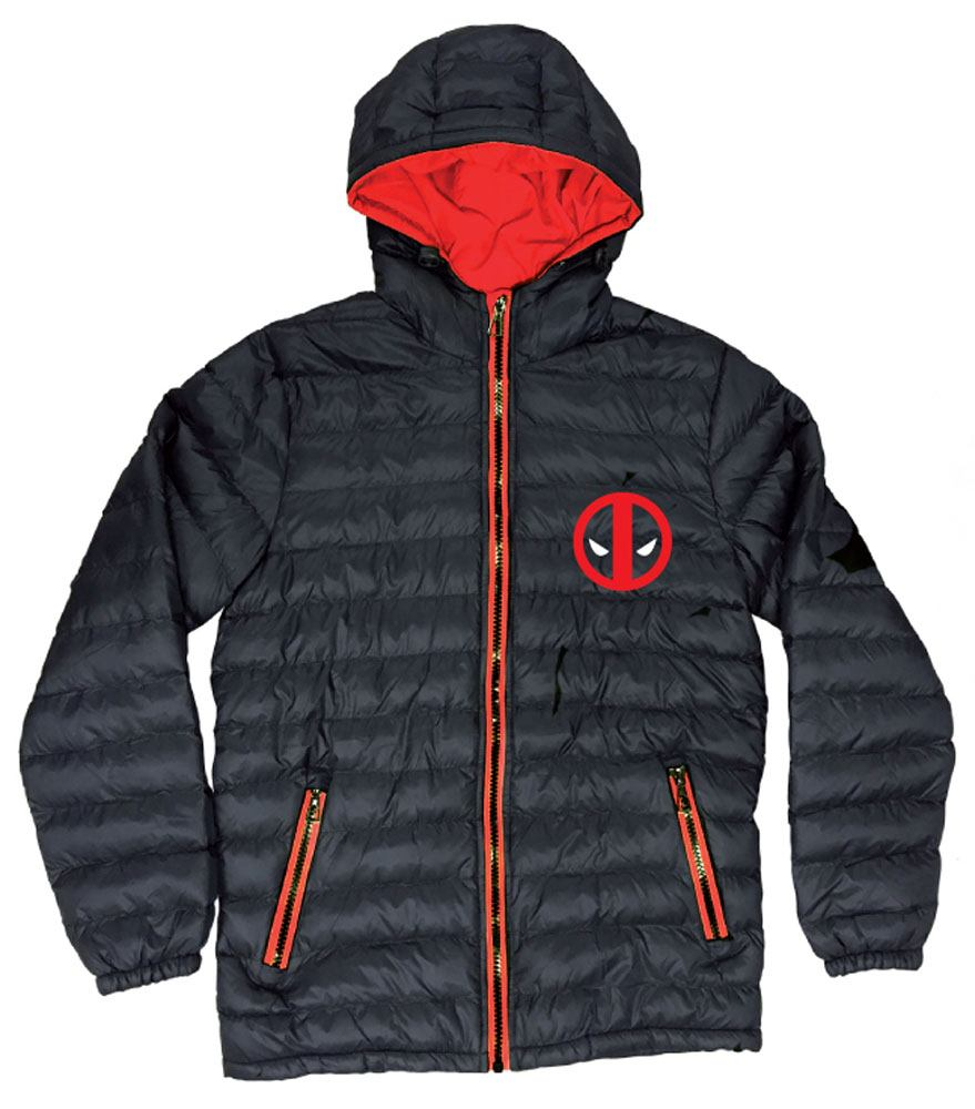 Marvel Comics Padded Jacket Deadpool Logo Size L