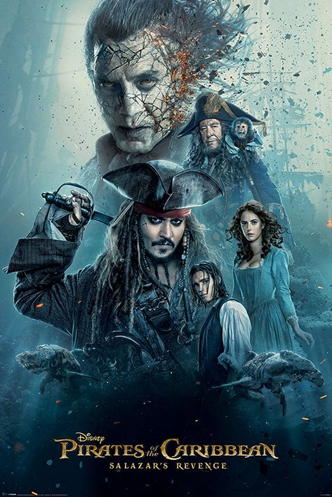 Pirates of the Caribbean Dead Men Tell No Tales Poster Pack Burning 61 x 91 cm (5)