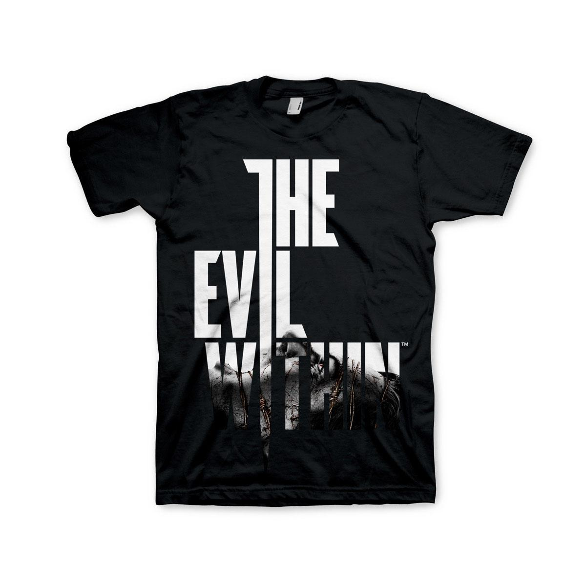 The Evil Within T-Shirt Black Text at Front Size L