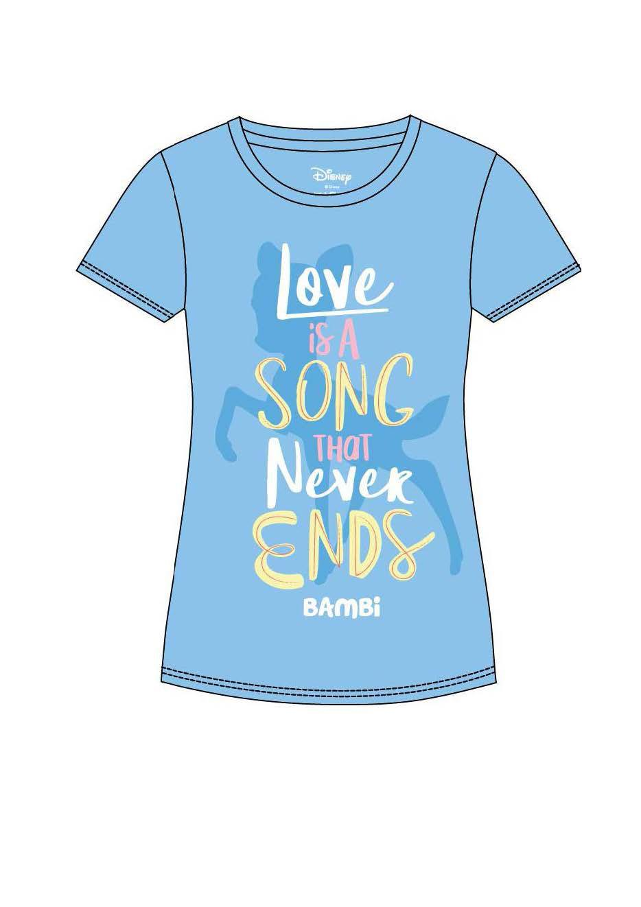 Bambi Ladies T-Shirt Love Is A Song Size XL