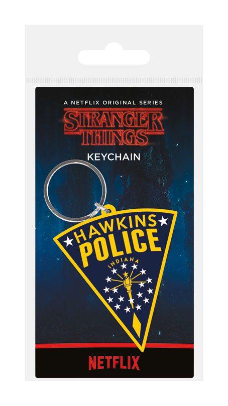 Stranger Things Rubber Keychain Hawkins Police 6 cm