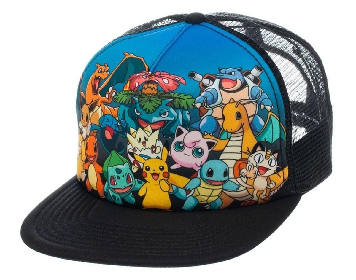 Pokemon Trucker Cap Characters