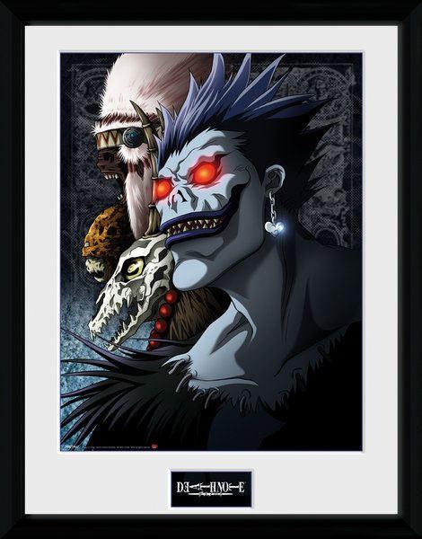 Death Note Framed Poster Shinigami 45 x 34 cm