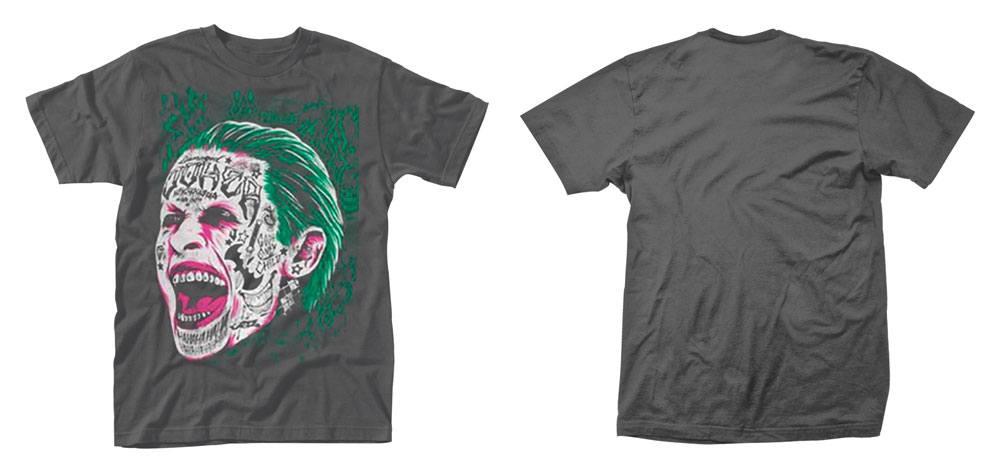 Suicide Squad T-Shirt Joker Tattooed Face Size L