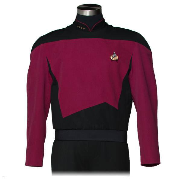 Star Trek The Next Generation Replica Command Burgundy Tunic Size S