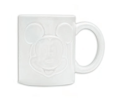 Mickey Mouse Relief Mug White