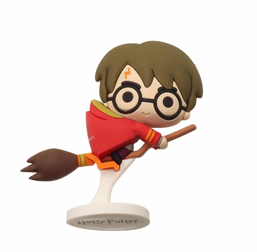Harry Potter Pokis Rubber Minifigure Harry Potter Nimbus Red Cape 6 cm