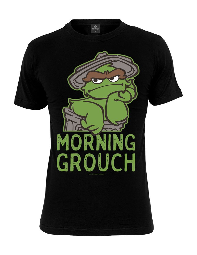 Sesame Street T-Shirt Oscar Morning Grouch Size L