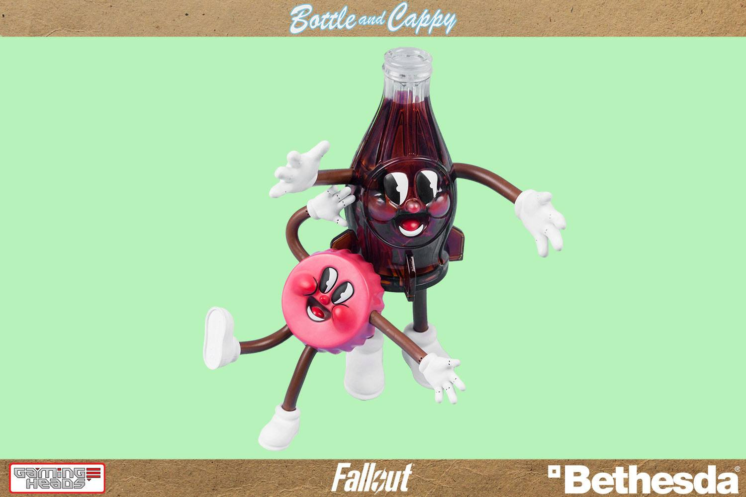Fallout Bendable Figures 2-Pack Bottle & Cappy 9 - 18 cm --- DAMAGED PACKAGING