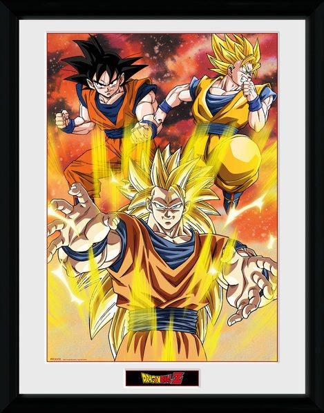 Dragonball Z Framed Poster 3 Gokus 45 x 34 cm