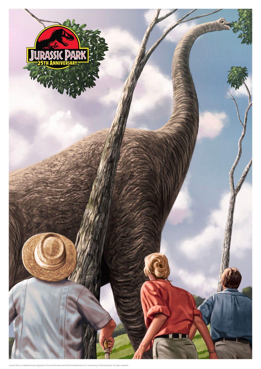 Jurassic Park Art Print 25th Anniversary 42 x 30 cm