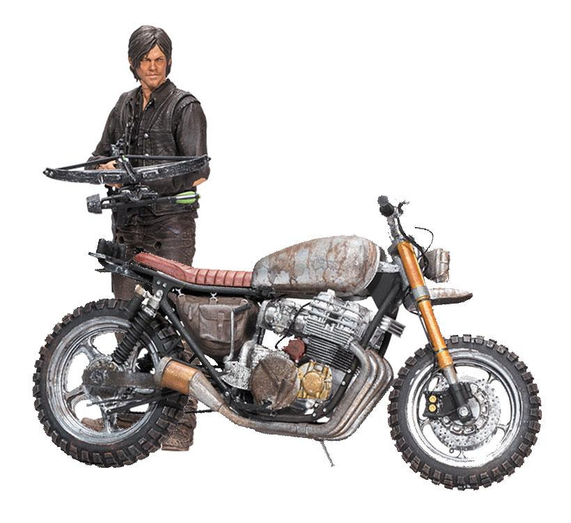The Walking Dead Deluxe Action Figure Daryl Dixon with Chopper Season 5-6 13 cm