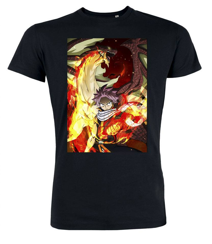 Fairy Tail T-Shirt Natsu Dragon Size L