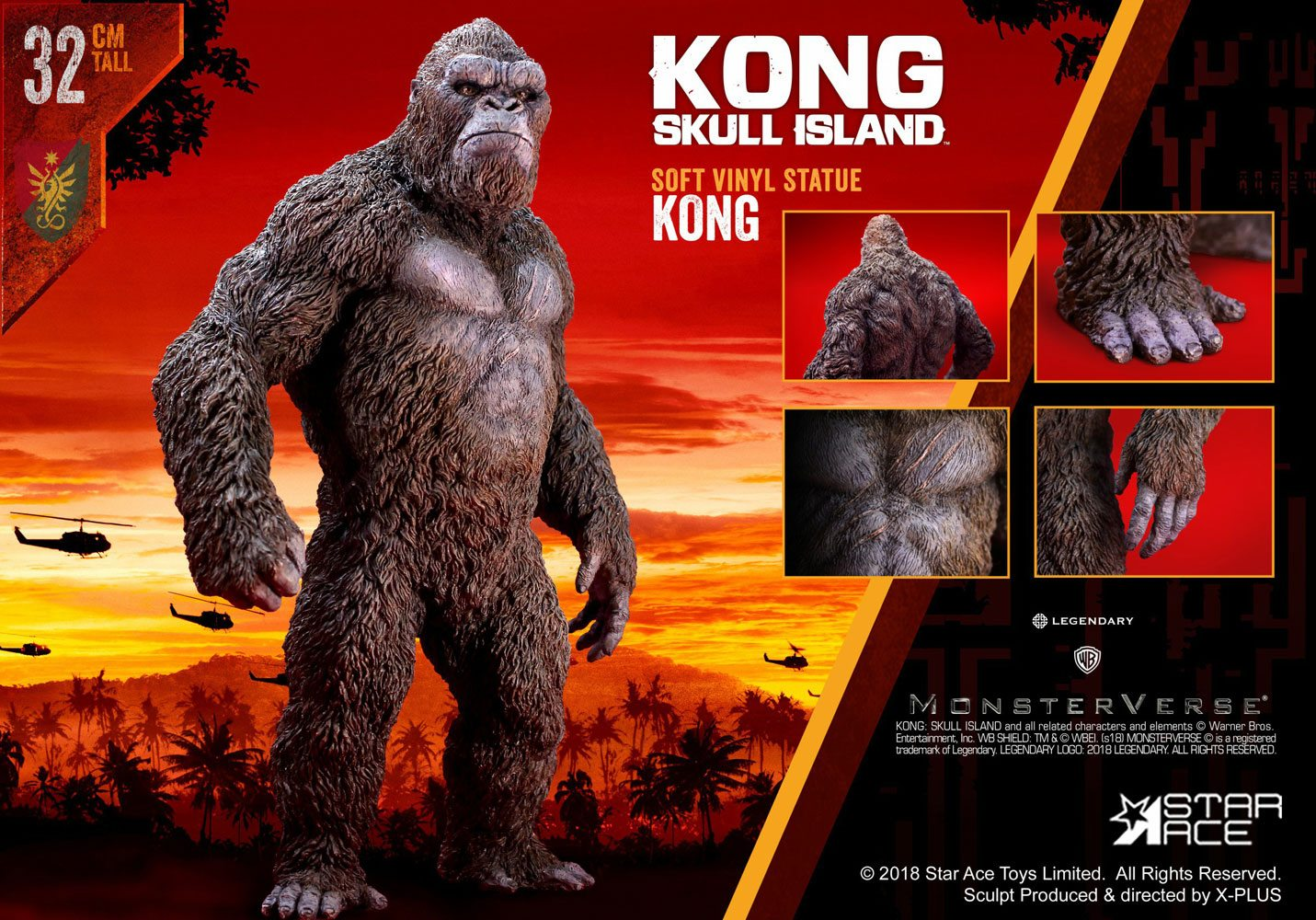 Kong Skull Island Soft Vinyl Statue Kong 32 cm