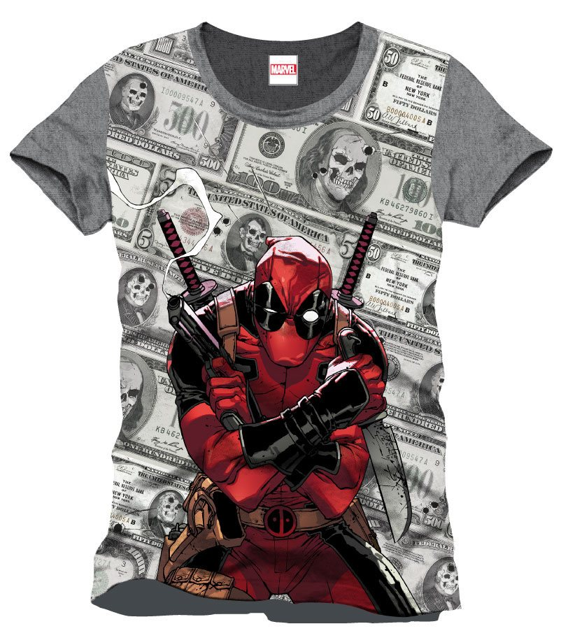 Deadpool T-Shirt Bills Size L