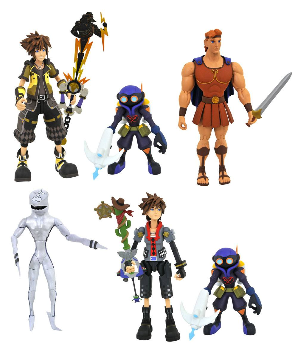 Kingdom Hearts 3 Select Action Figures 18 cm 2-Packs Series 2 Assortment (6)