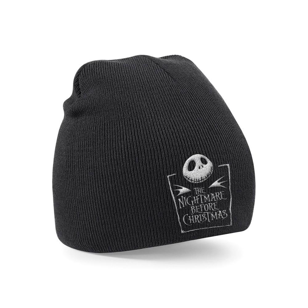 Nightmare Before Christmas Beanie Logo