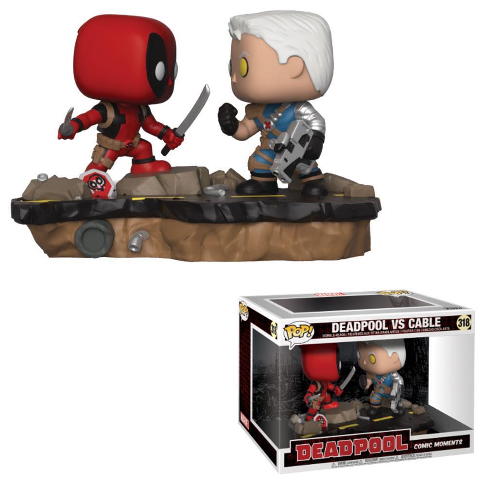 Deadpool POP! Movie Moments Vinyl Bobble-Head 2-Pack Deadpool vs. Cable 9 cm