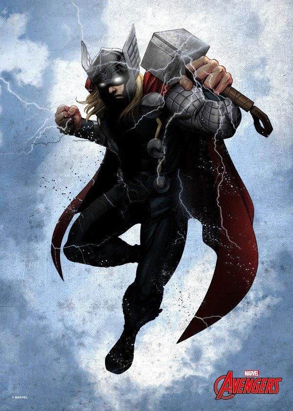 Marvel Comics Metal Poster Dark Thor 32 x 45 cm