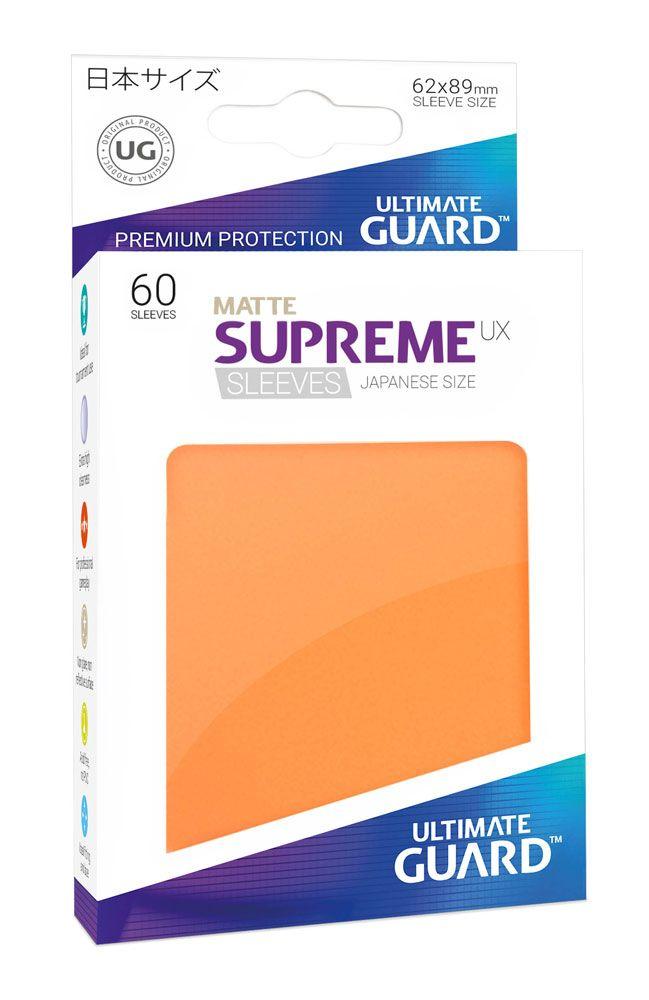 Ultimate Guard Supreme UX Sleeves Japanese Size Matte Orange (60)