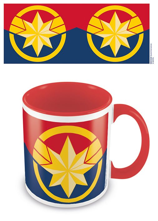Captain Marvel Coloured Inner Mug Emblem