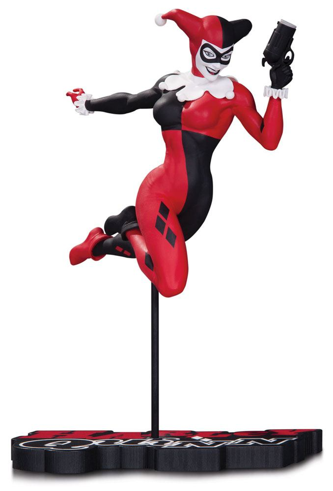 DC Comics Red, White & Black Statue Harley Quinn by Terry Dodson 18 cm