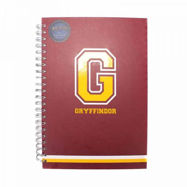 Harry Potter A4 Notebook G for Gryffindor