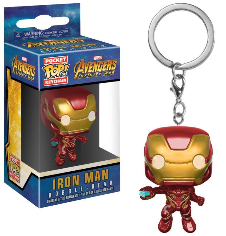 Avengers Infinity War Pocket POP! Vinyl Keychain Iron Man 4 cm