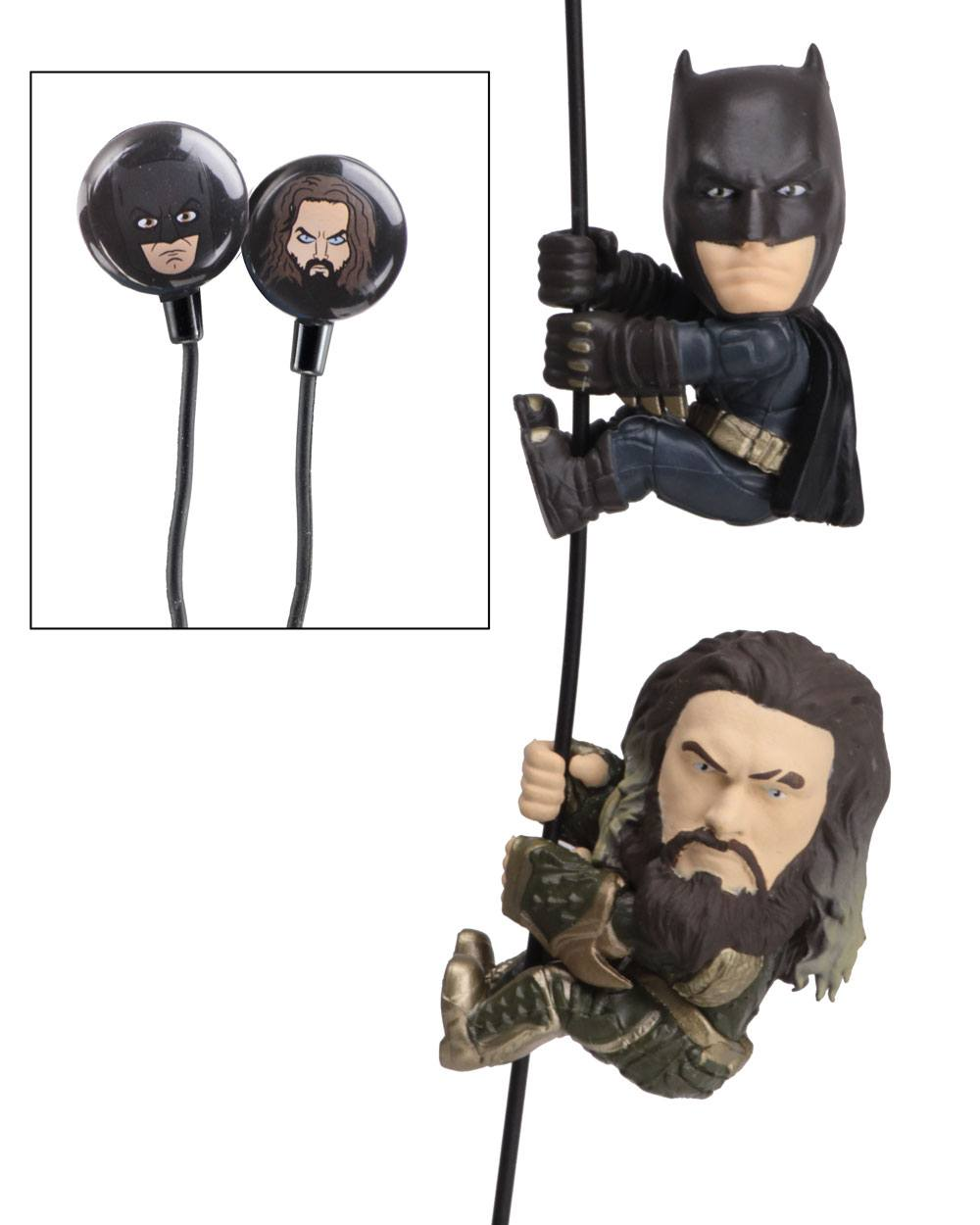 DC Comics Scalers Figures 2-Pack Batman & Aquaman with Earbuds