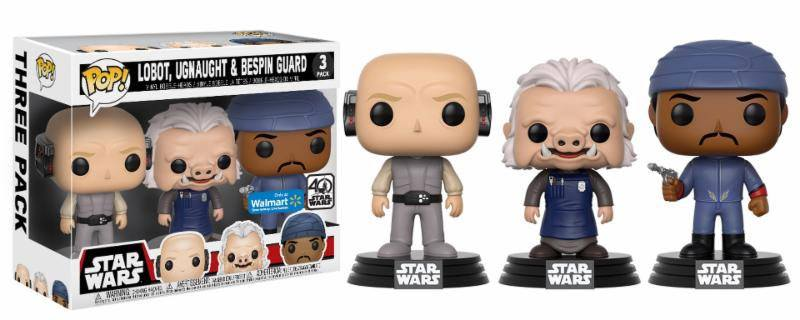 Star Wars POP! Vinyl Figure 3-Pack Lobot, Ugnaught & Bespin Guard 9 cm