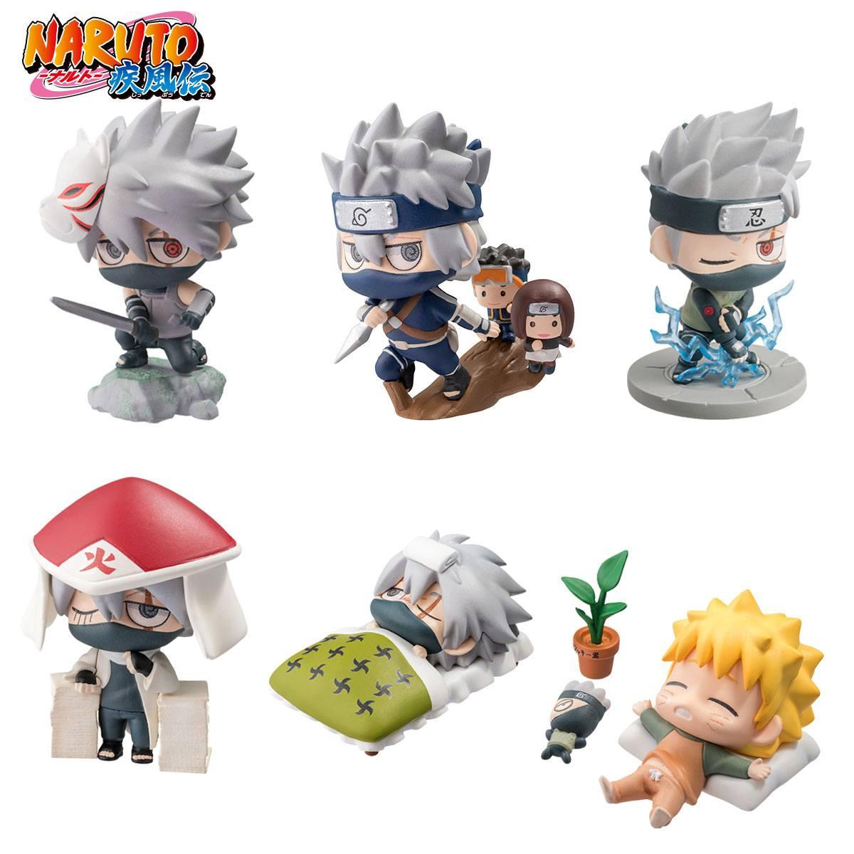 Naruto Shippuden Petit Chara Land Trading Figure 6-Pack Kakashi Special Set 5 cm