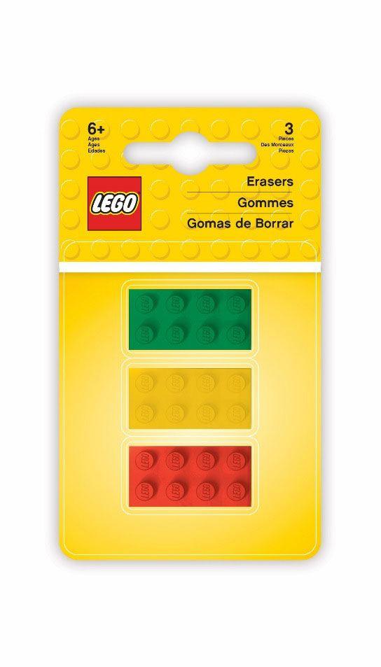 LEGO Iconic Erasers 3-Pack