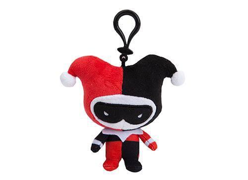 DC Comics Plush Hanger Harley Quinn Chibi Style 10 cm