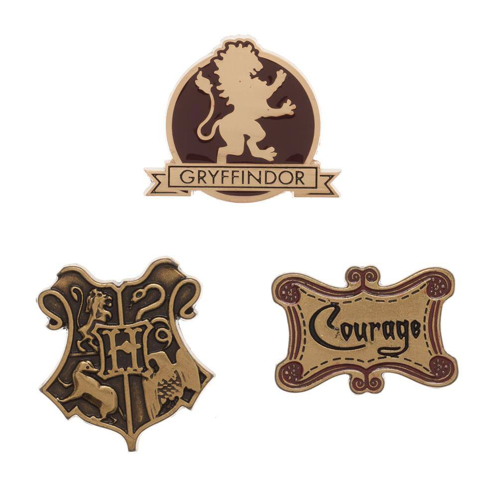 Harry Potter Gryffindor Lapel Pin Set 3-Pack