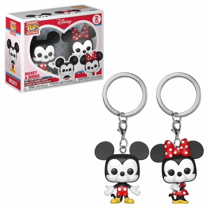 Disney Pocket POP! Vinyl Keychain 2-Pack Mickey & Minnie 4 cm