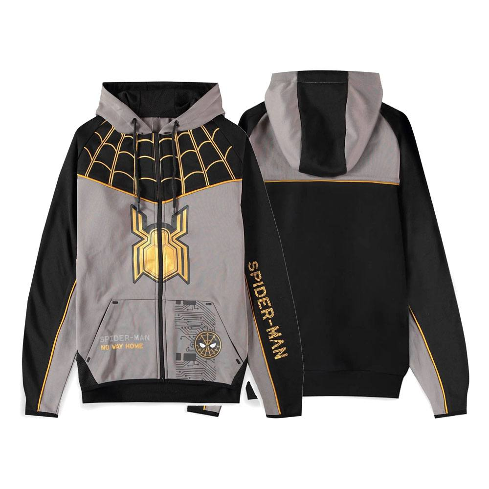Spider-Man: No Way Home Hooded Sweater Black Suit Size L