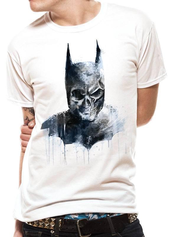 Batman T-Shirt Gothic Skull Size XL