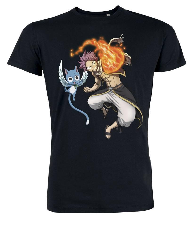 Fairy Tail T-Shirt Natsu & Happy Size S