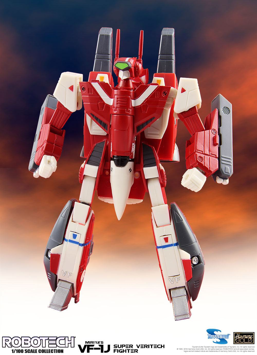 Robotech Super Veritech Fighter Collection Action Figure 1/100 VF-1J Miriya 15 cm