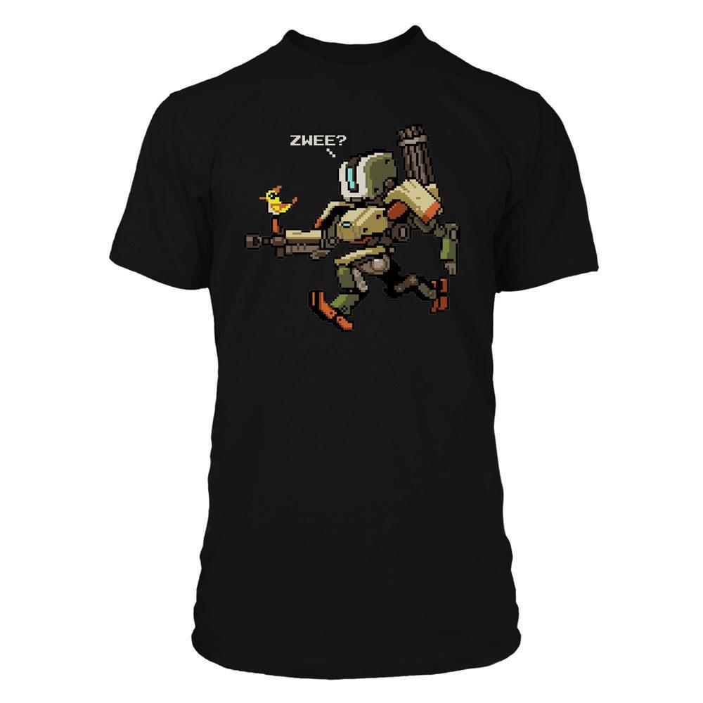 Overwatch T-Shirt 16-Bit Bastion Sprite Size L