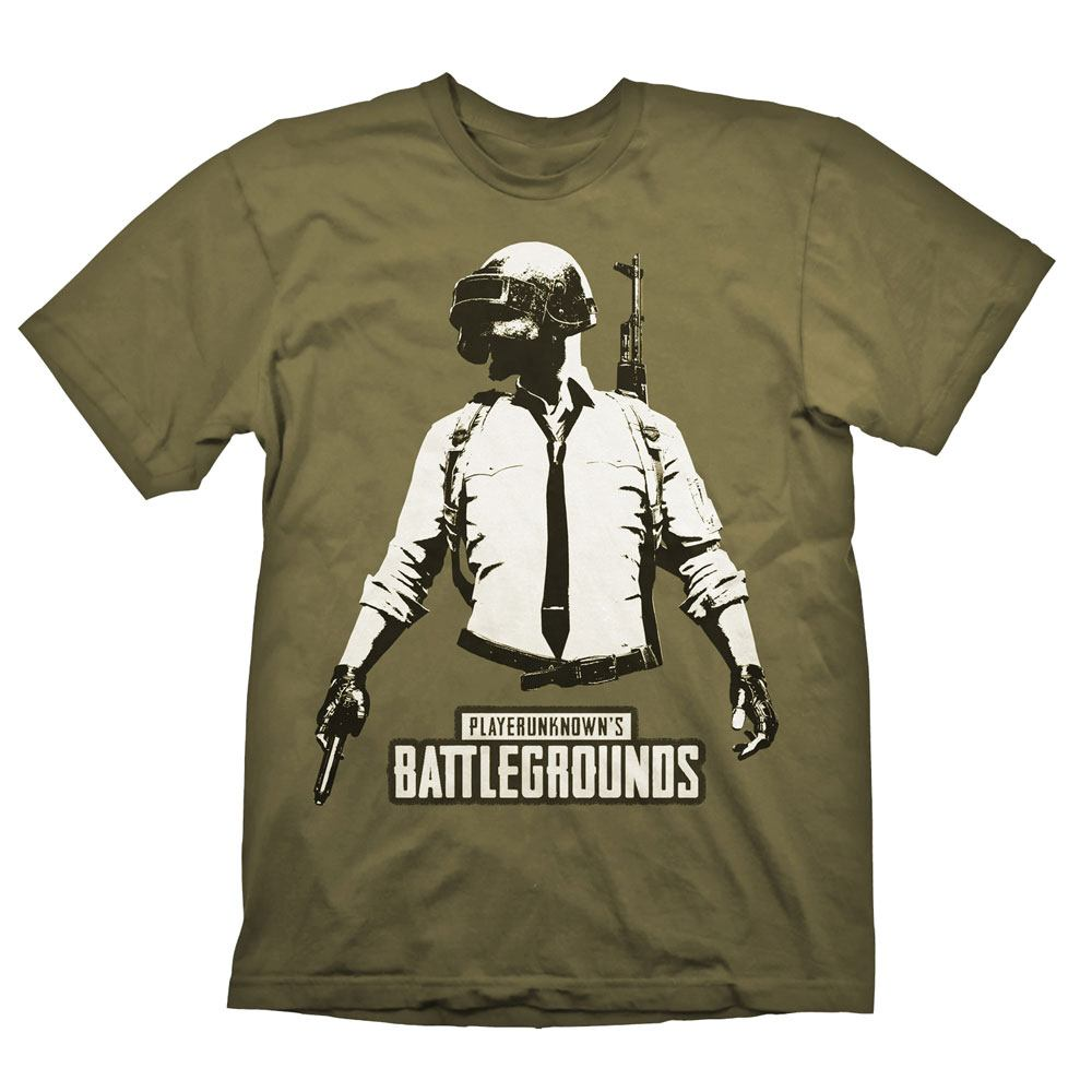 Playerunknown's Battlegrounds (PUBG) T-Shirt Guy Stencil Size S
