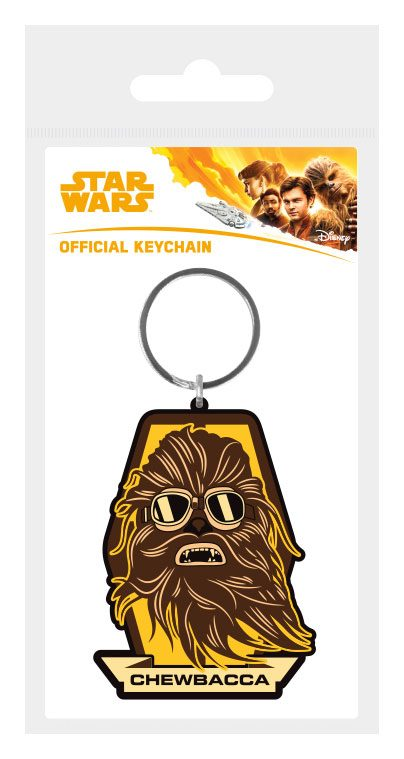 Star Wars Solo Rubber Keychain Chewbacca Badge 6 cm