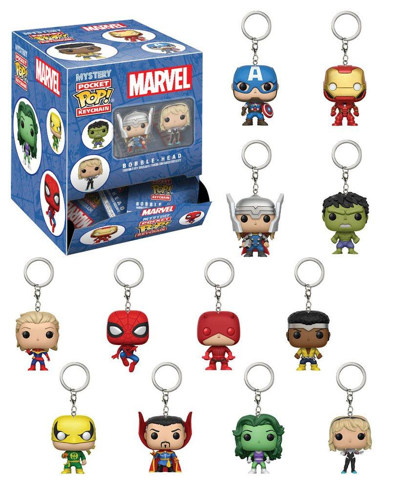Marvel Comics Pocket POP! Vinyl Keychain 5 cm Display (24)
