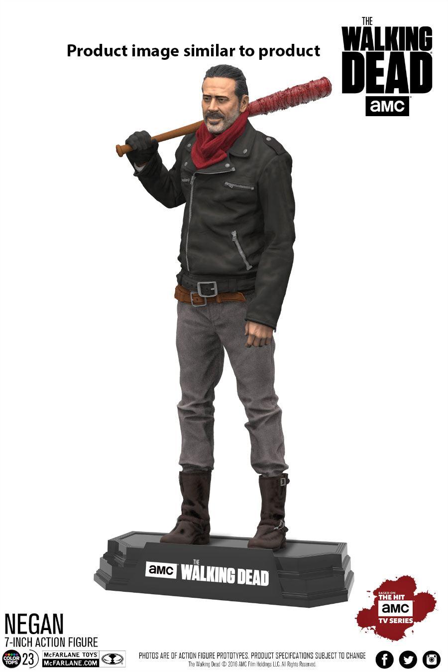 The Walking Dead TV Version Action Figure Negan Exclusive Bloody Edition 18 cm