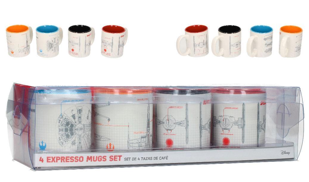 Star Wars Episode VIII Espresso Mugs Set Blueprints