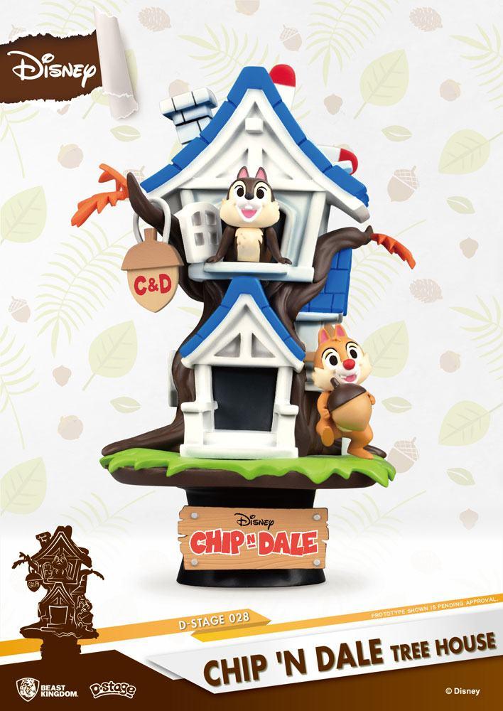 Disney Summer Series D-Stage PVC Diorama Chip 'n Dale Tree House 16 cm