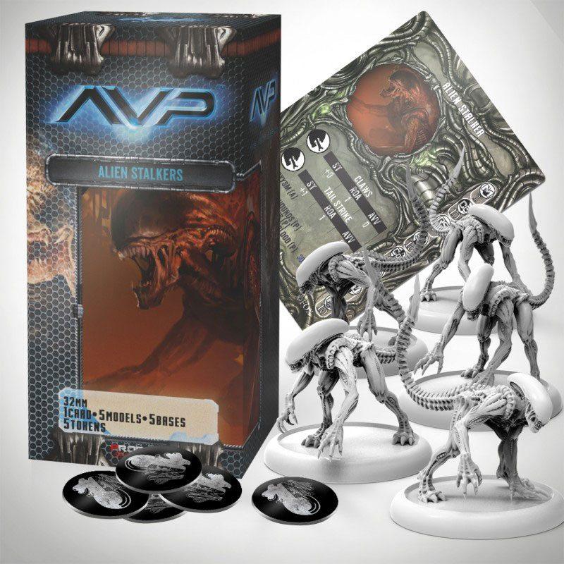 AvP Tabletop Game The Hunt Begins Expansion Pack Alien Stalkers