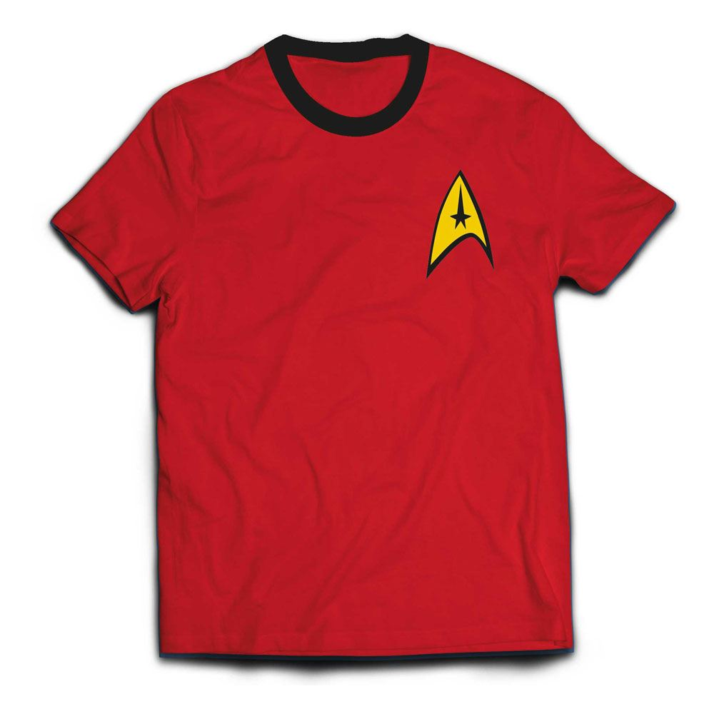 Star Trek Ringer T-Shirt Engineer Uniform  Size M