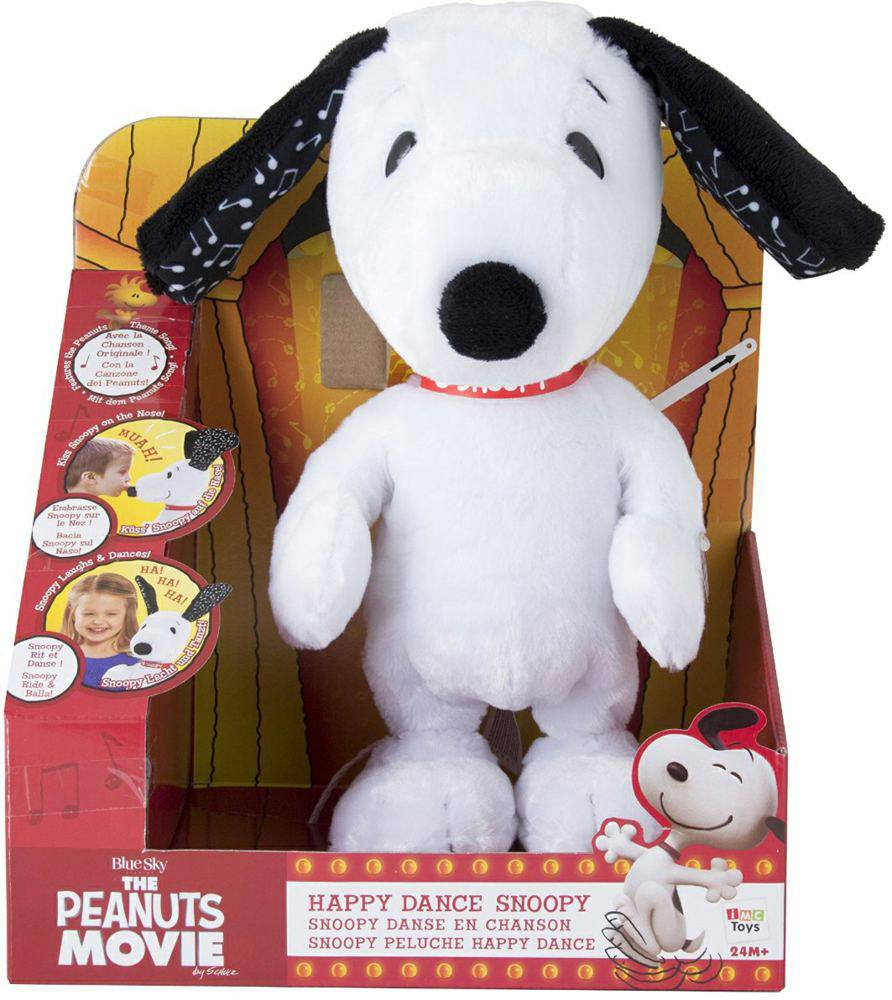 Peanuts Plush Figure with Sound Dancing Snoopy 28 cm